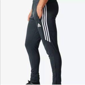 Adidas Black White Striped Tiro 17 Track Pants S